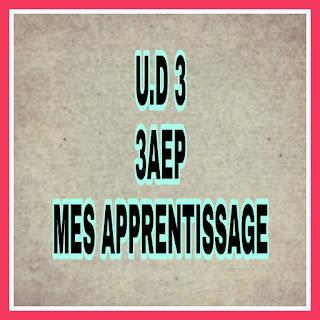 Fiches Unité3 3AEP Mes apprentissages en français جذاذات الوحدة الثالثة