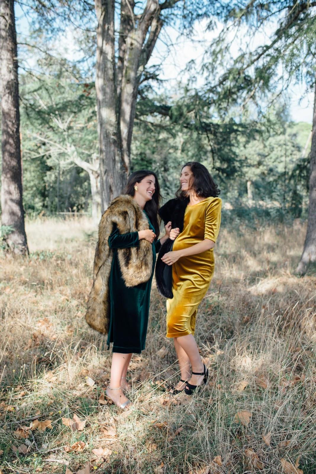 14 vestidos ideales para embarazadas en bodas de otoño-invierno