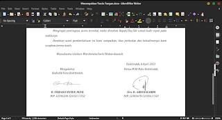 Tanda tangan di dalam LibreOffice