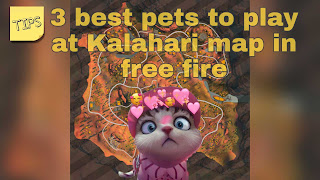 Free Fire Tips: Best 3 Pet to play with at kalahari map.