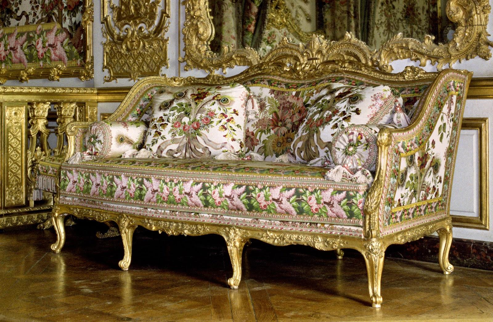 art et techniques de la dorure versailles canap foliot chambre de la reine. Black Bedroom Furniture Sets. Home Design Ideas