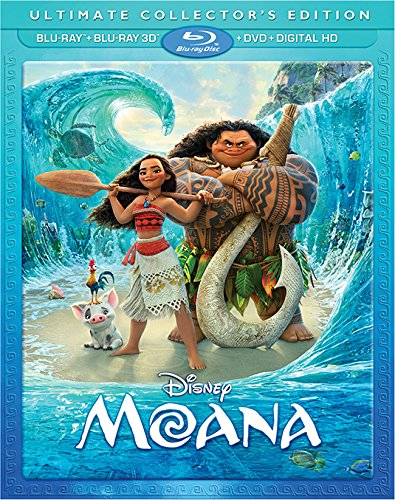 Moana Blu-ray and 3D Movie