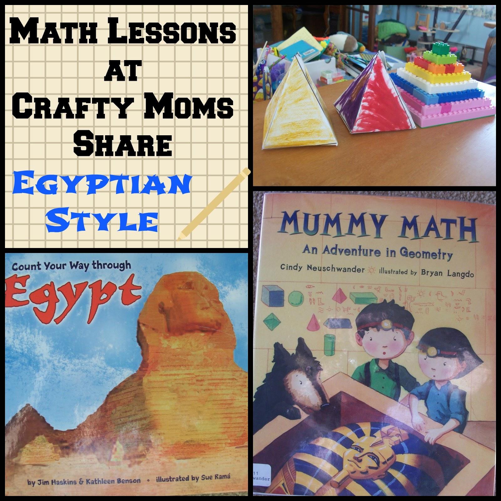 Crafty Moms Share Math Lessons Egyptian Math Pyramids