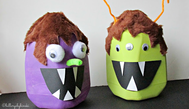 Easy Milk Jug Monsters