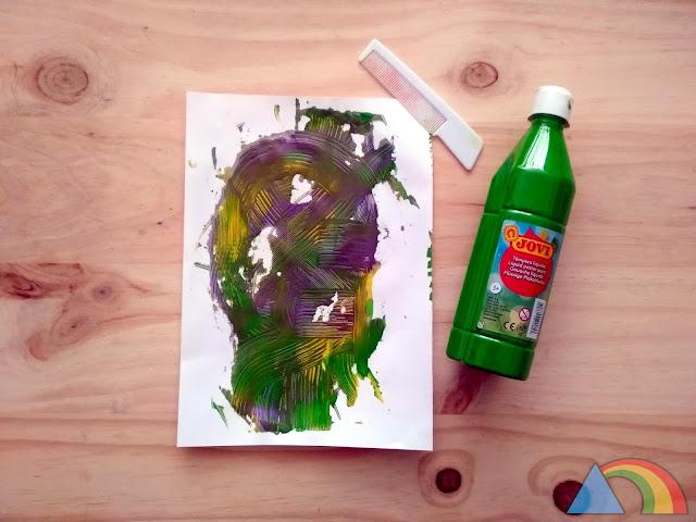 Pintura realizada con un peine