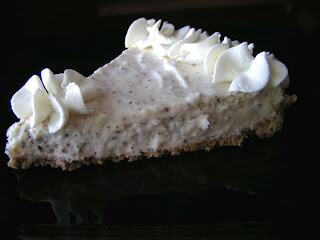 April+617a Chocolate Speckled No Bake Cheesecake