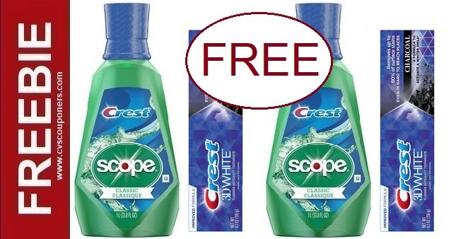 FREE Scope CVS Couponers Deal 1-3-1-9