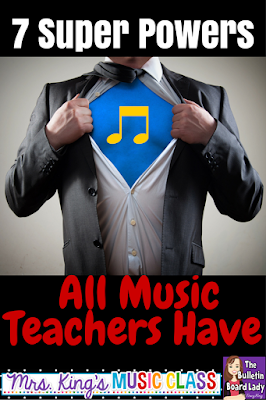 Music teachers DO have super powers.  Did you know that?  New teachers and veteran educators will love this cheeky, but 100% honest look at the life of a music teacher.