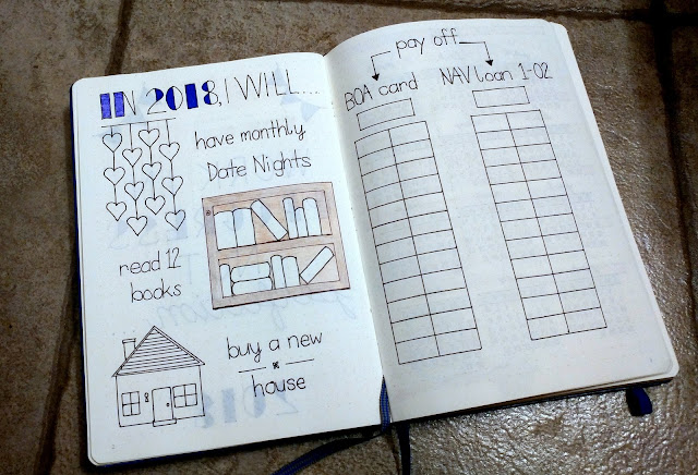 Focus Word: Make Progress in 2018 -- Bullet Journal -- 2018 Goals | Taste As You Go