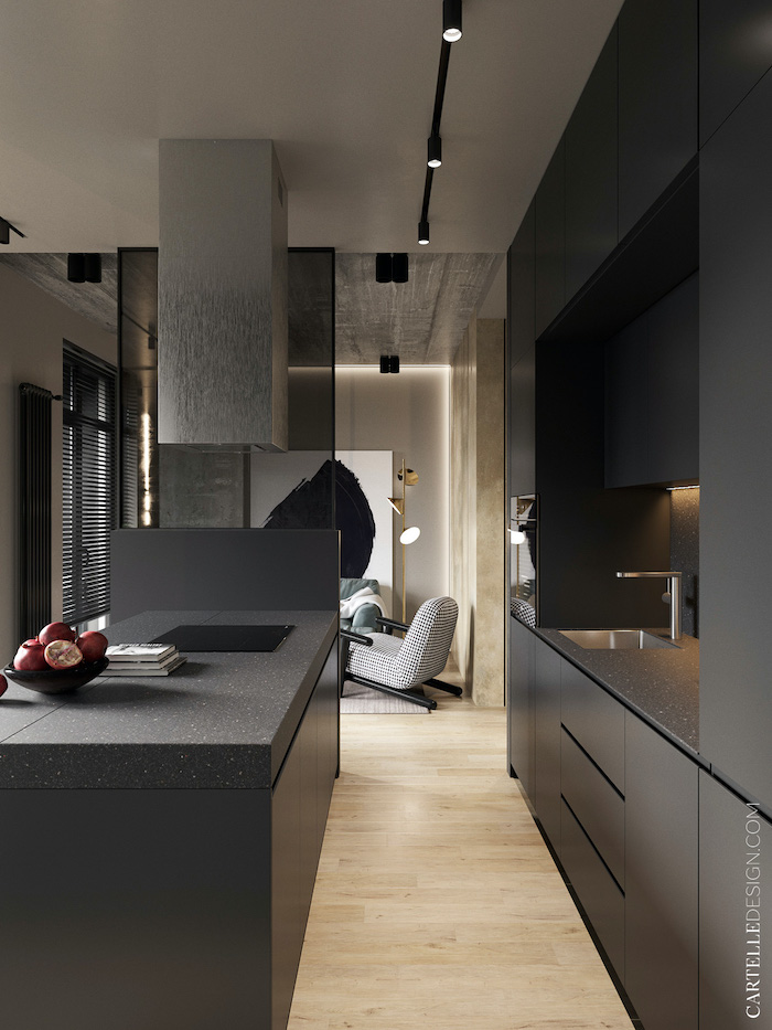 Cocina de apartamento pequeño