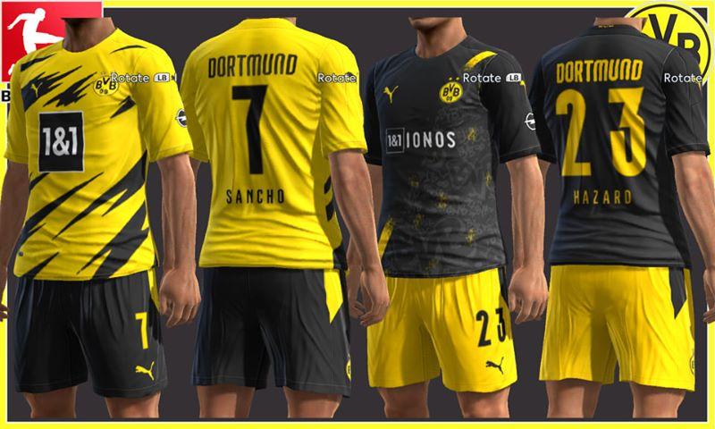 Ultigamerz Pes 2013 Borussia Dortmund 2020 21 Home Away Kits