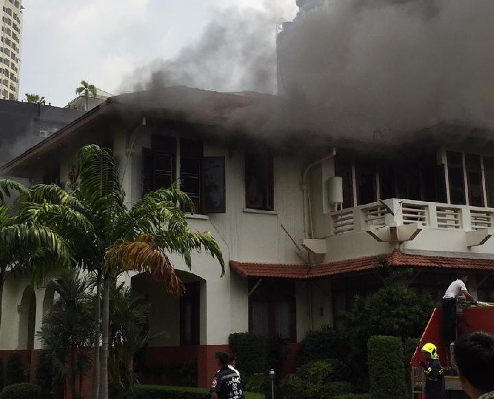 Komplek KBRI Bangkok Terbakar