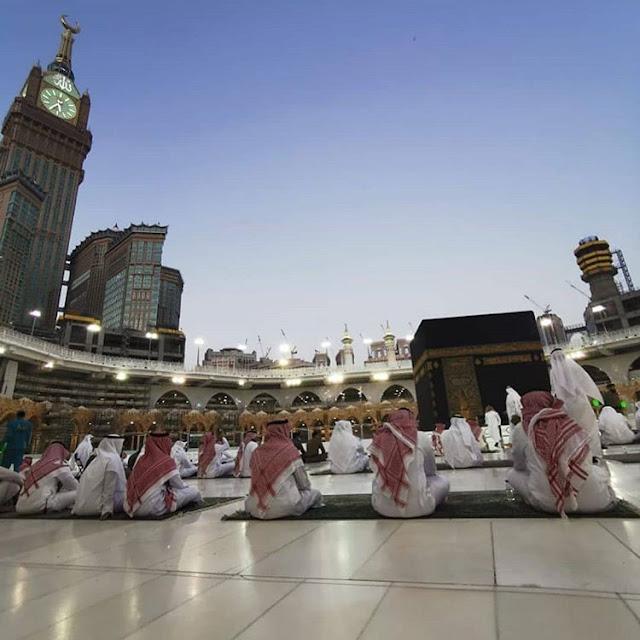 Foto-foto Penampakan Sholat Idul Fitri di Masjidil Haram Makkah saat Corona