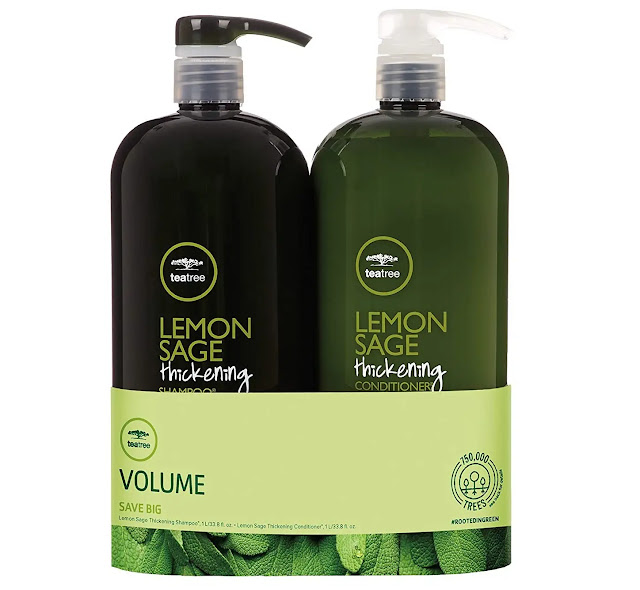 5- Tea Tree Lemon Sage Thickening Liter Duo Set