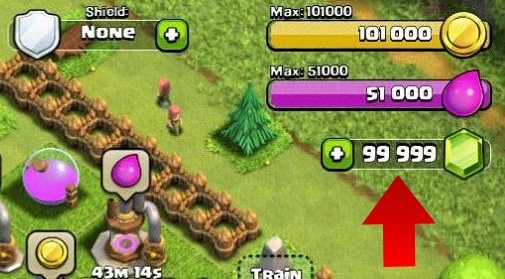 clash of clan how to get more gems