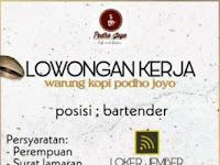 Lowongan Kerja Jember Bartender Warung Kopi Podho Joyo