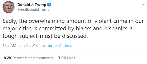 """Why are African Americans still dying at the hand of law enforcement in this country?"" TRUMP: ""What a terrible question to ask. So are white people. MORE white people by the way. MORE white people."""