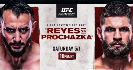Watch UFC Fight Night Reyes Vs Prochazaka 5/1/2021 Live Stream