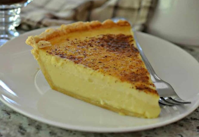 Old Fashioned Custard Pie #desserts #recipes