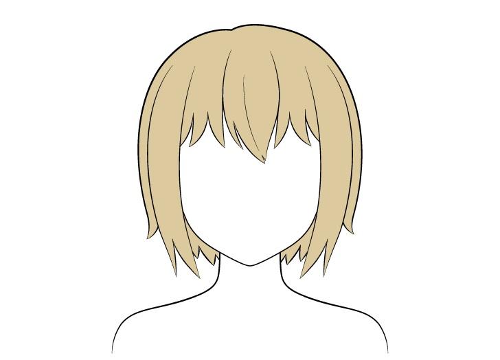 Pewarnaan rambut pendek anime
