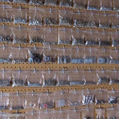 Organizador feito com saquinhos plásticos
