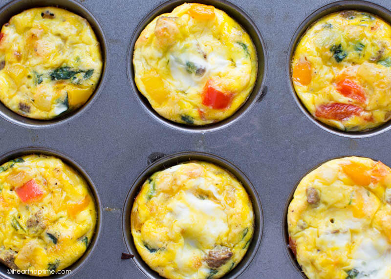 MINI EGG FRITTATAS #egg #dinner #food #healthyeat #recipes