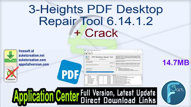 3-Heights PDF Desktop Repair Tool 6.14.1.2 + Crack
