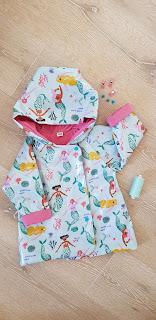 mermaid toddler raincoat ikatee grandourse