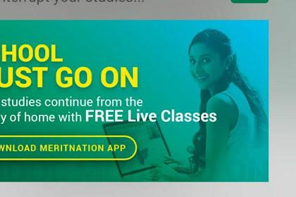 Meritnation Free live classes For 21 days | Corona Lockdown