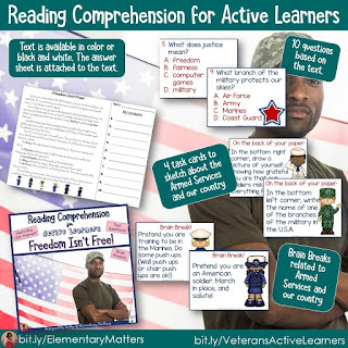 Reading Comprehension for Active Learners: Freedom isn't Free
