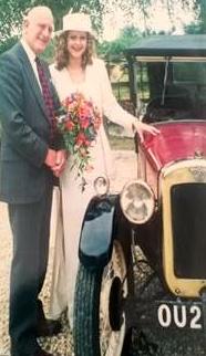 Photograph of the Austin 7 on wedding day. Image courtesy of Nikki Greenleaf