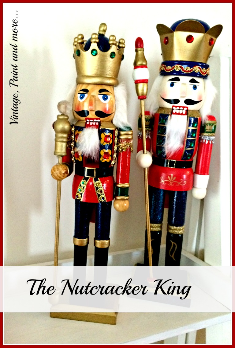 Vintage, Paint and more... vintage nutcrackers used in Christmas decor