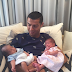 Cristiano Ronaldo meets his twins for the first time, shows them off