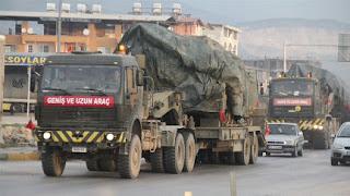 الجيش التركي يرسل تعزيزات عسكرية إلى الحدود السورية