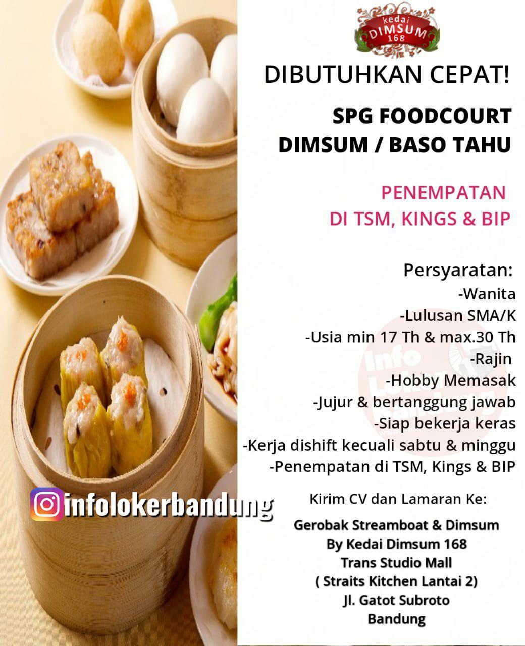 Lowongan Kerja Kedai Dimsum 168 Bandung April 2019