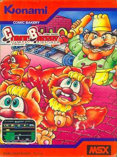 Portada del videojuego Comic Bakery para MSX en 1984