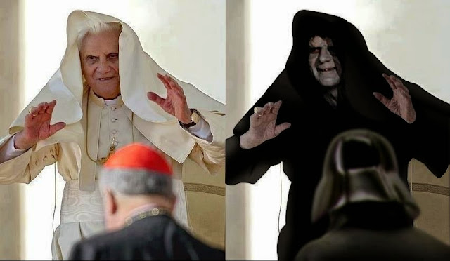 Funny Pope Ratzinger Dark Lord Emperor Palpatine Joke Picture