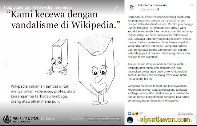 pperusakan vandalisme halaman wikipedia oleh orang tidak bertanggung jawab