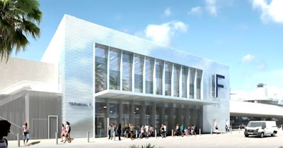 Artists Rendering of the Renovated MSC Cruises' Terminal F in Miami for the MSC Seaside and MSC Divina