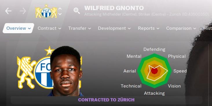Wilfried Gnonto Football Manager 2021 FM21 FM2021
