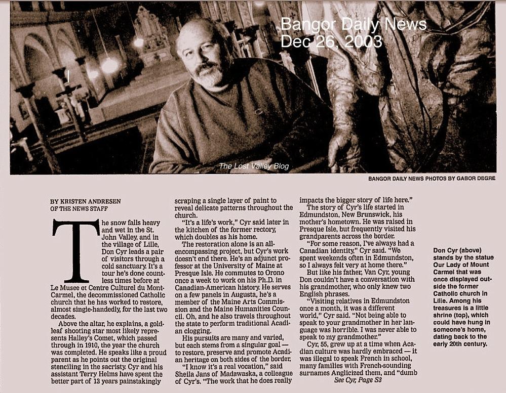 The Lost Valley - An Internet History of Saint John, N B : 2011
