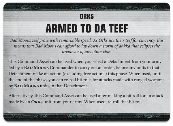 Activos de Mando Orkos Apocalypse