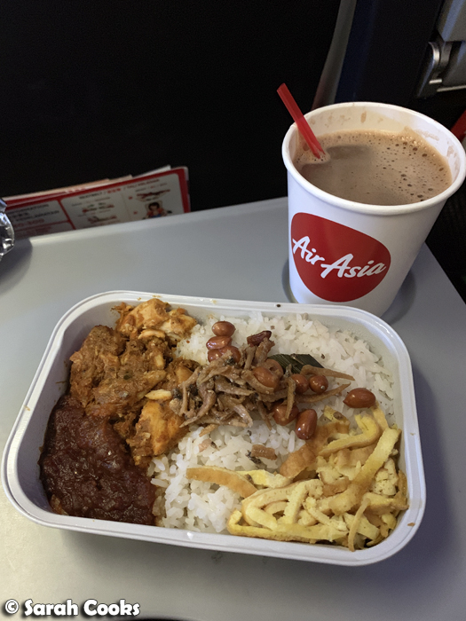 Air Asia Nasi Lemak and Milo