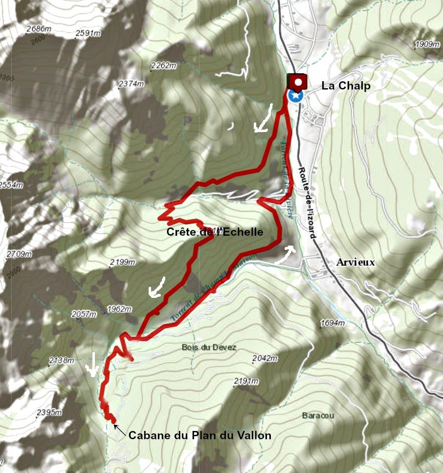 Plan du Vallon hike from la Chalp