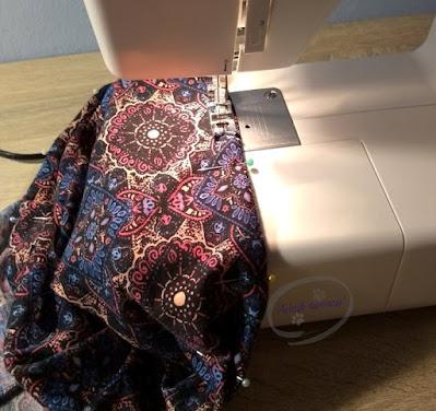 Komplet spódniczka i top DIY z przeróbki sukienki - Adzik tworzy