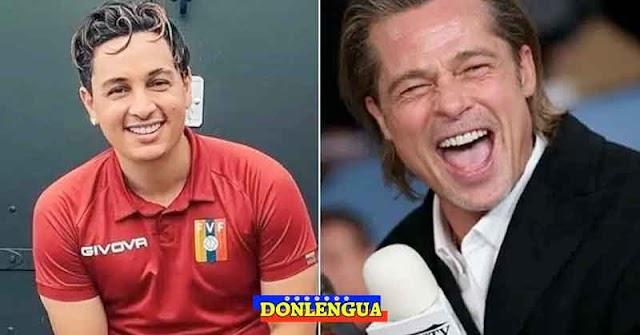 Victor Drija sorprendido por su parecido con el actor Brad Pitt