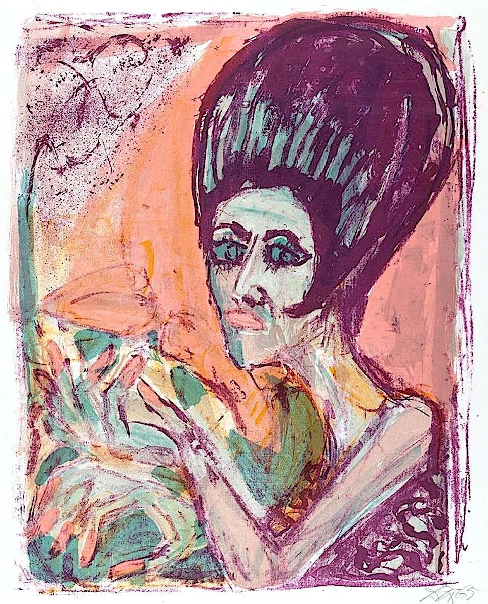 Otto Dix woman 1955