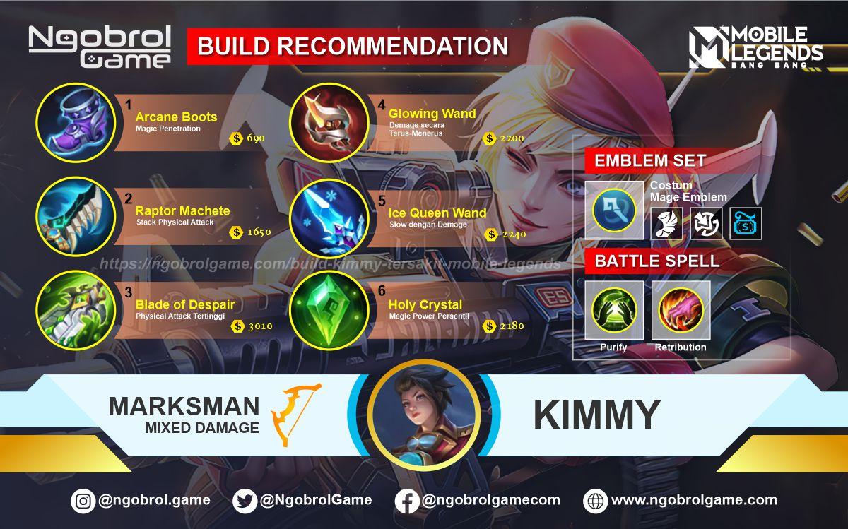 Build Kimmy Savage Mobile Legends