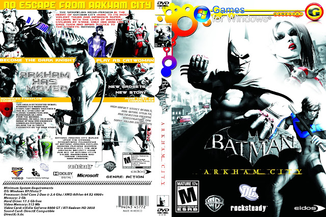 Capa Batman Arkham City PC