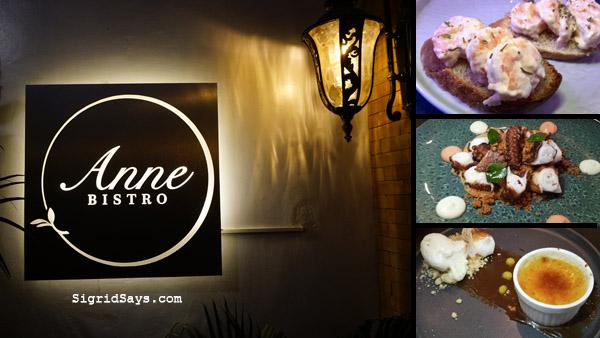 Anne Bistro - Bacolod restaurant - fusion cuisine
